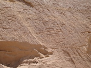 Image of Timna hieroglyphics