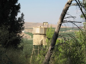 Image of Israel border guard tower