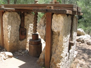 Image of ancient oil press